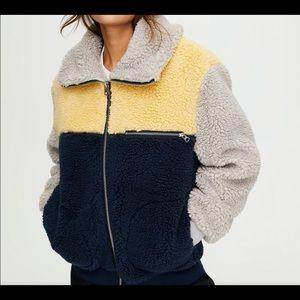 Wilfred free teddy jacket sz m grey blue